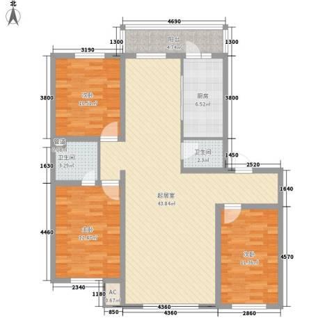 金泰嘉园3室0厅2卫1厨137.00㎡户型图