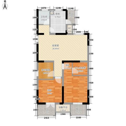 藏品�山湾2室0厅1卫1厨110.00㎡户型图
