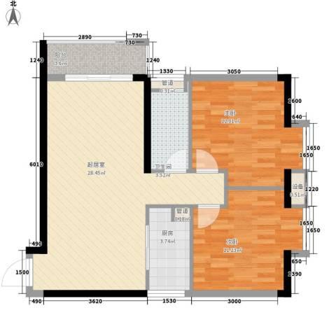 新星小区2室0厅1卫1厨90.00㎡户型图