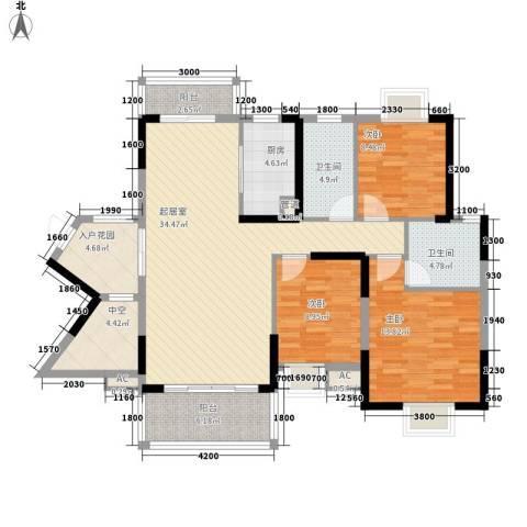 劲嘉山与城3室0厅2卫1厨143.00㎡户型图