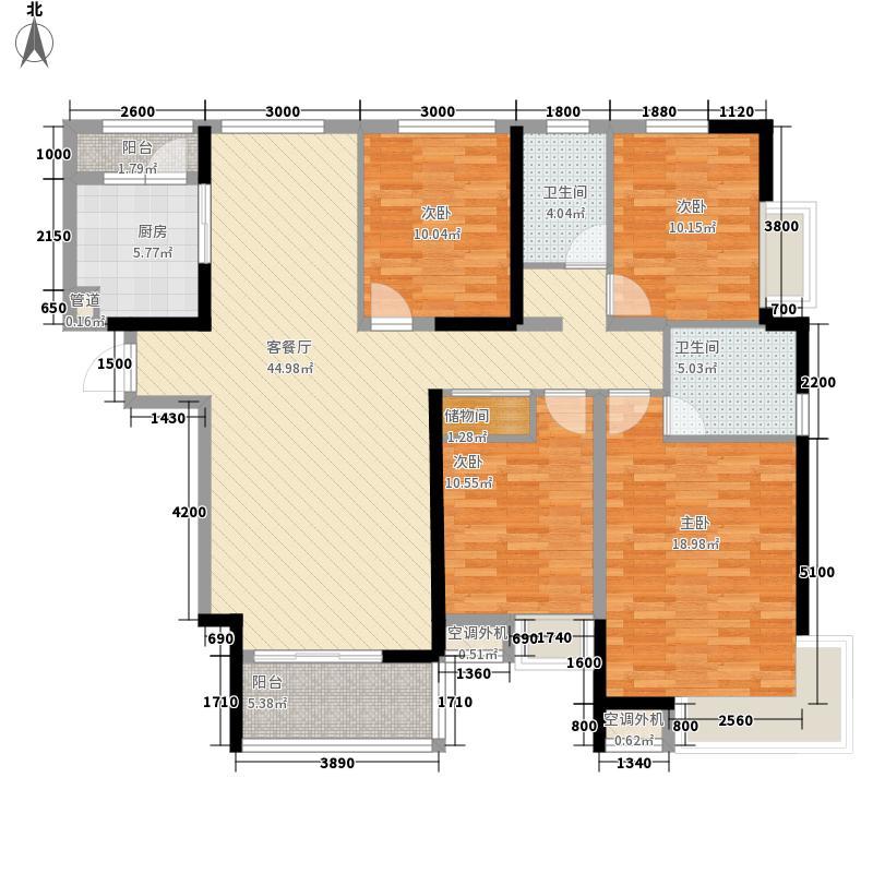 金地国际花园别墅金地国际花园别墅户型图一期3号楼标准层4B户型4室2厅户型4室2厅