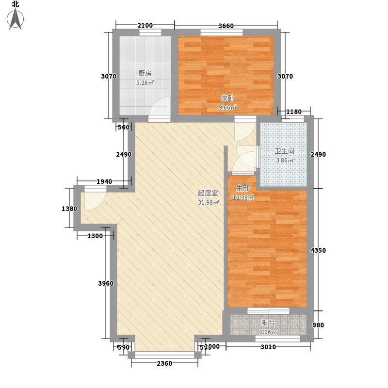 宾阳北里户型2室2厅1卫1厨