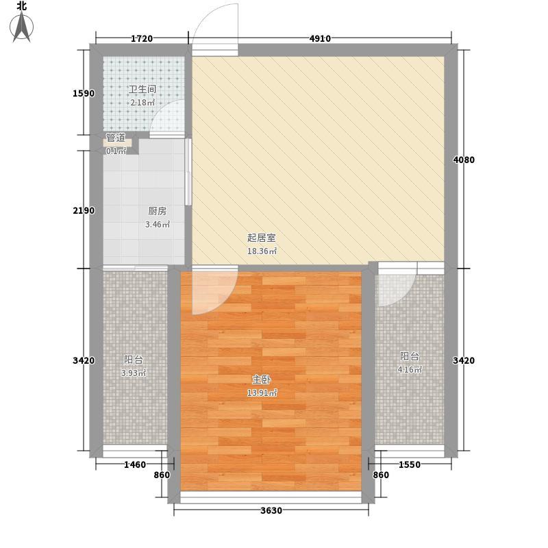 正虹广场10户型1室1厅1卫1厨