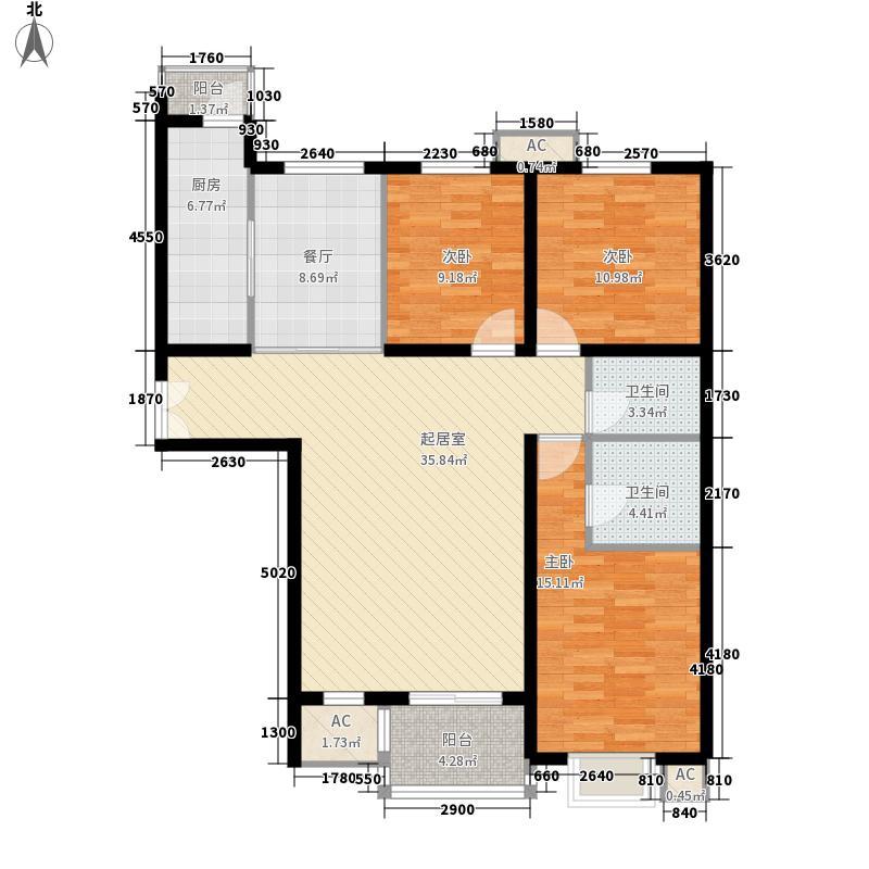 汇雅风尚132.00㎡汇雅风尚户型图一期3号楼G户型3室2厅2卫1厨户型3室2厅2卫1厨