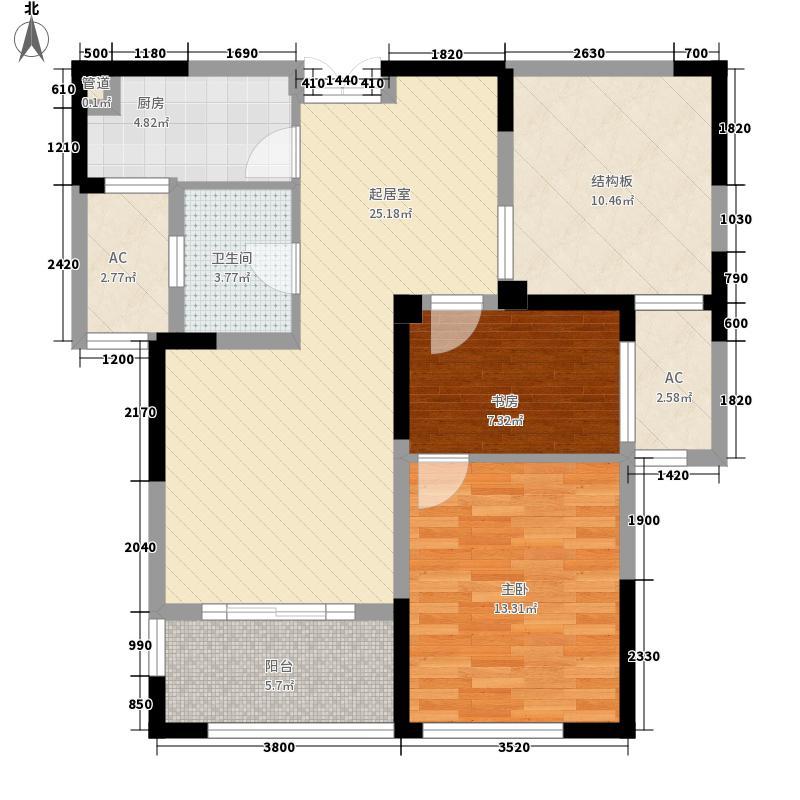 金大地191284.10㎡C户型2室2厅1卫1厨
