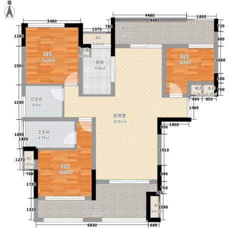 宣佳世纪嘉园3室0厅2卫1厨116.00㎡户型图
