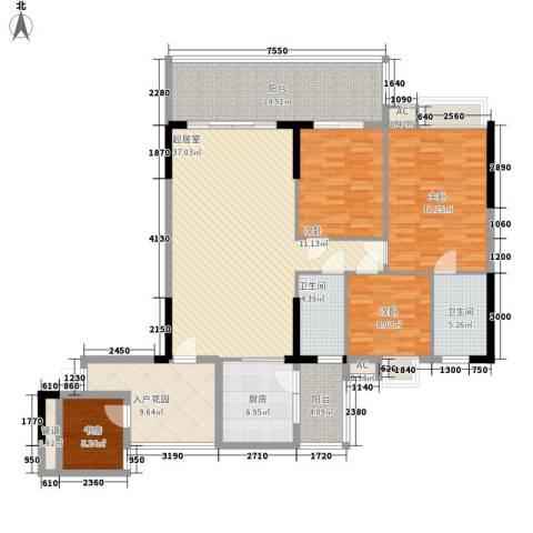 骊雅居4室0厅2卫1厨143.00㎡户型图