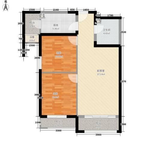 怡水花园三期2室0厅1卫1厨99.00㎡户型图