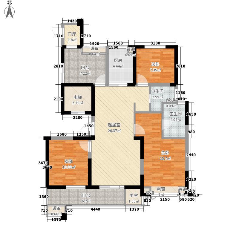长江国际二期臻园130.00㎡长江国际二期臻园户型图G2户型图3室2厅2卫1厨户型3室2厅2卫1厨