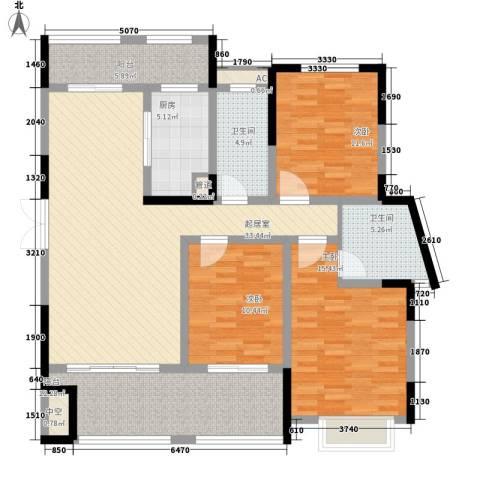 宣佳世纪嘉园3室0厅2卫1厨106.02㎡户型图