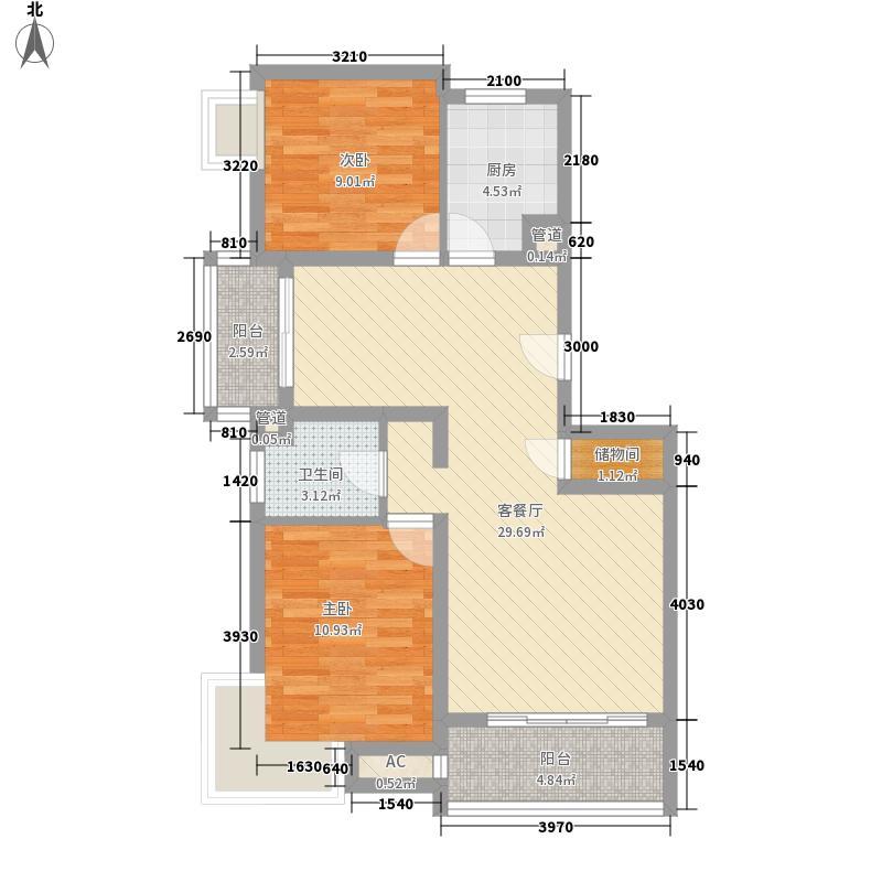 丰景湾名邸99.00㎡上海丰景湾名邸户型图A1户型10室