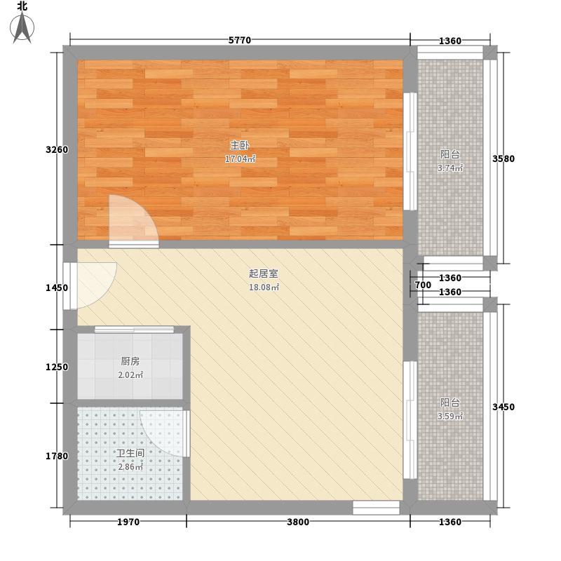 盛世财富公馆户型图A1户型  1室1厅1卫1厨