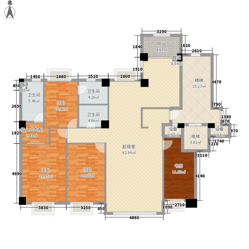 大都会新天地220.00㎡大都会新天地户型图L3L4M1M2标准层户型4室2厅3卫1厨户型4室2厅3卫1厨
