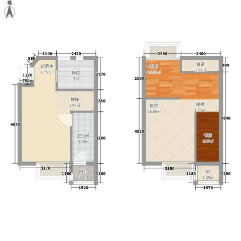 高巢1室0厅1卫1厨80.00㎡户型图