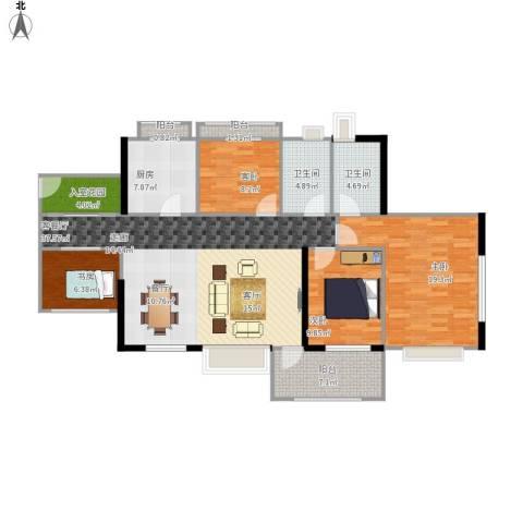 丹梓龙庭4室1厅2卫1厨153.00㎡户型图