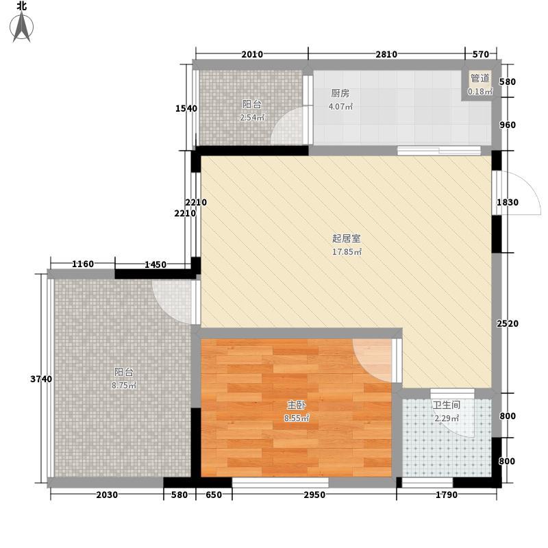 树高卡地亚58.00㎡树高卡地亚户型图C41室1厅1卫1厨户型1室1厅1卫1厨