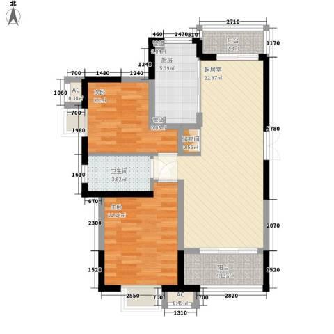 高巢2室0厅1卫1厨89.00㎡户型图
