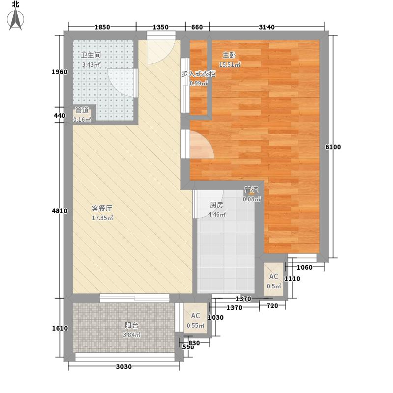 中原区委家属院2居室62户型