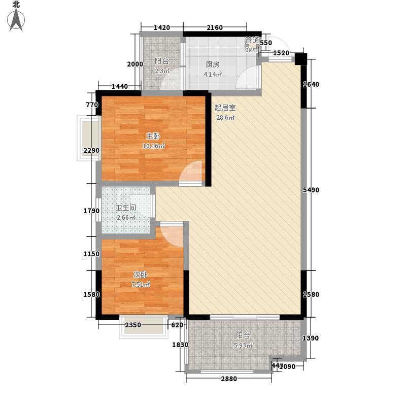 树高卡地亚75.00㎡树高卡地亚户型图C32室2厅1卫1厨户型2室2厅1卫1厨