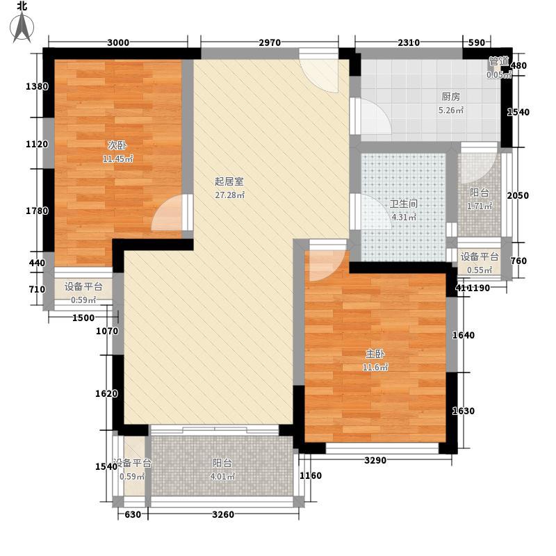 信达格兰云天86.00㎡信达格兰云天户型图G6户型2室2厅1卫1厨户型2室2厅1卫1厨