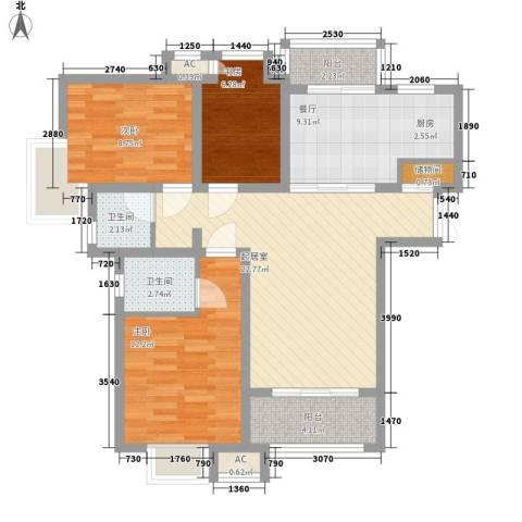 高巢3室1厅2卫0厨108.00㎡户型图