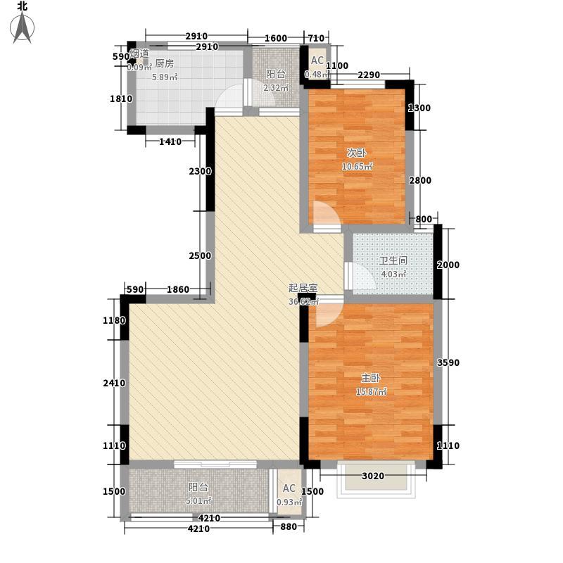 锦玉华庭113.70㎡1栋2、3、6、7号户型3室2厅1卫1厨