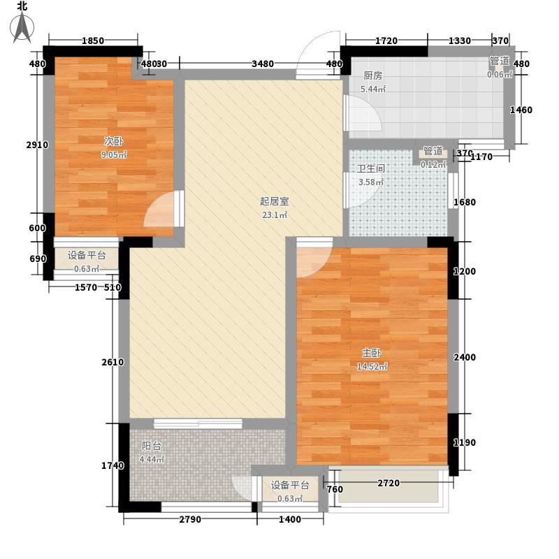 港龙紫荆城89.00㎡G1户型2室2厅