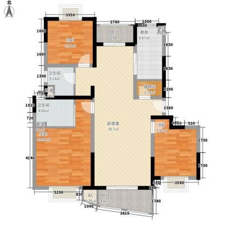 恒力锦沧花园3室0厅2卫1厨139.00㎡户型图