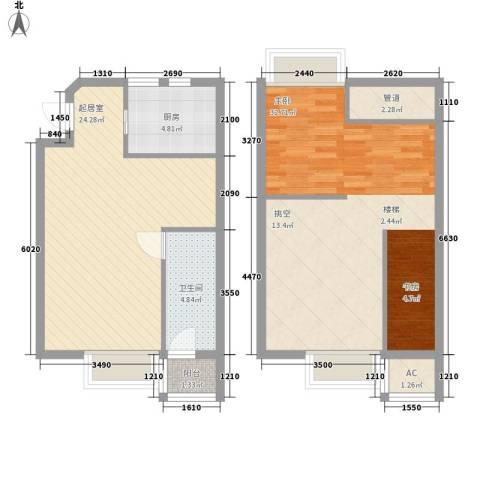 高巢1室0厅1卫1厨71.51㎡户型图