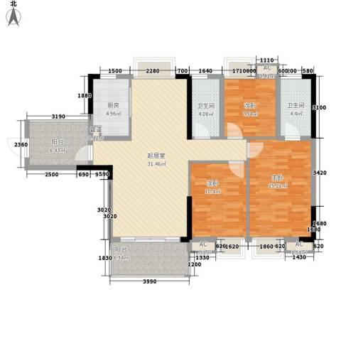 海逸・锦绣公馆3室0厅2卫1厨112.00㎡户型图