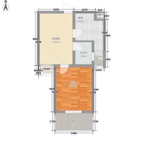 国大・国际花园1室0厅1卫1厨63.00㎡户型图
