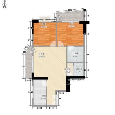 海是天下别墅2室0厅2卫1厨101.00㎡户型图