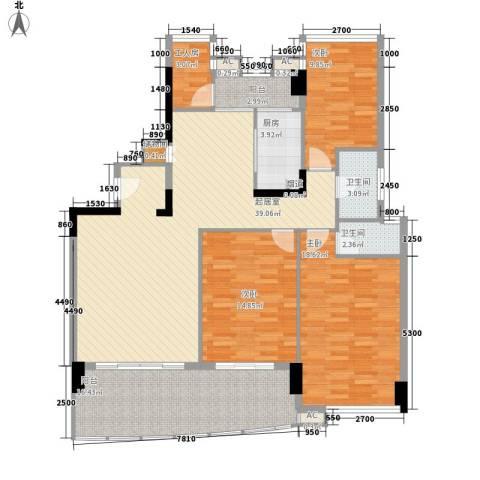 翠怡轩3室0厅2卫1厨163.00㎡户型图