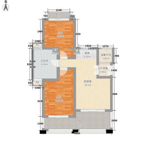 顺泽福湾2室0厅1卫0厨61.07㎡户型图