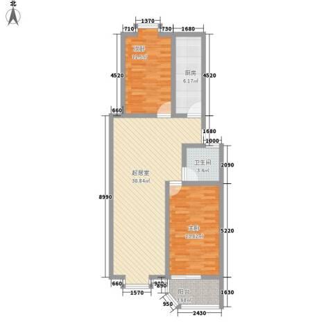 金容花园2室0厅1卫1厨100.00㎡户型图
