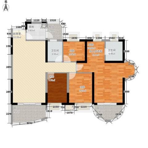 丽湖山庄4室0厅2卫1厨156.00㎡户型图