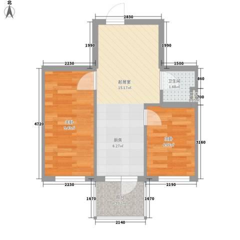荣兴新越2室0厅1卫0厨50.00㎡户型图