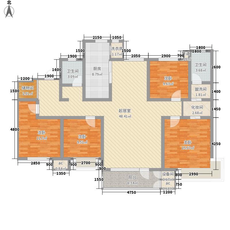首玺176.58㎡10号楼标准层E1户型