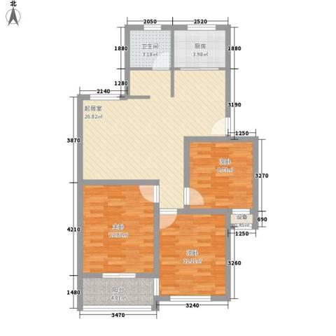 上海花园3室0厅1卫1厨103.00㎡户型图