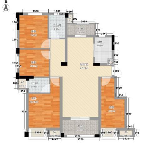 东方香颂4室0厅2卫1厨116.00㎡户型图