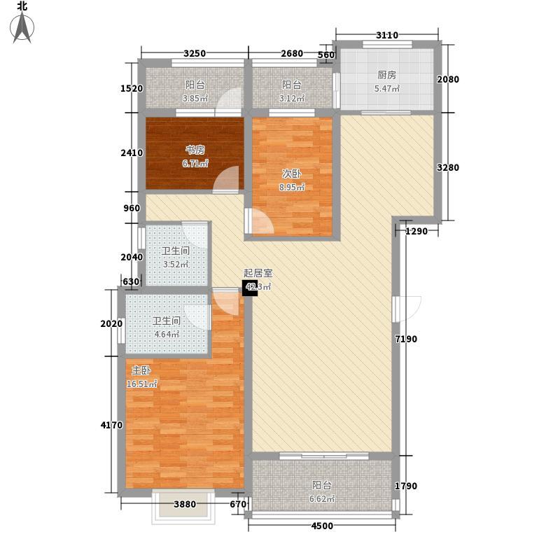 云锡・奥城122.01㎡D5户型3室2厅2卫1厨