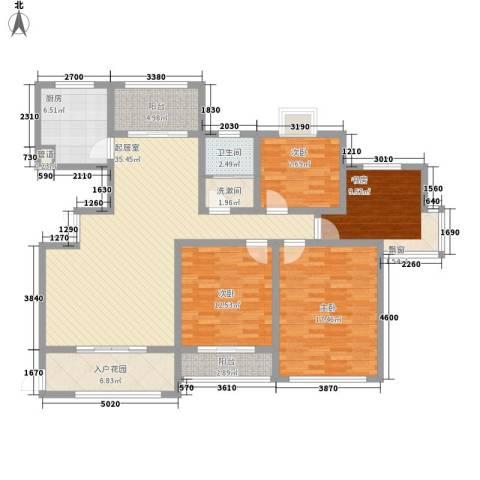 泰和天成4室0厅1卫1厨158.00㎡户型图