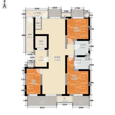 藏品�山湾3室0厅2卫0厨145.00㎡户型图