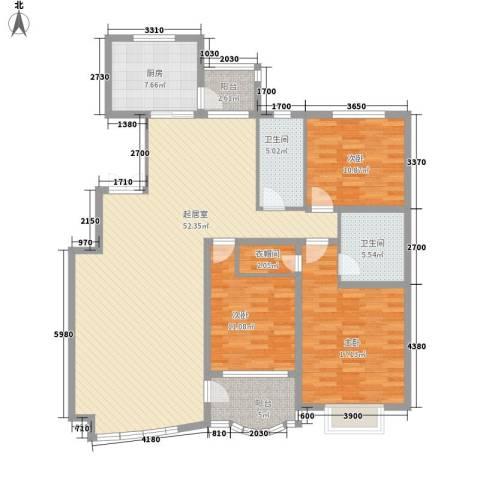 南郡水云天3室0厅2卫1厨170.00㎡户型图