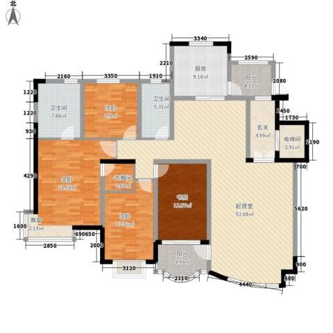 南郡水云天4室0厅2卫1厨186.00㎡户型图