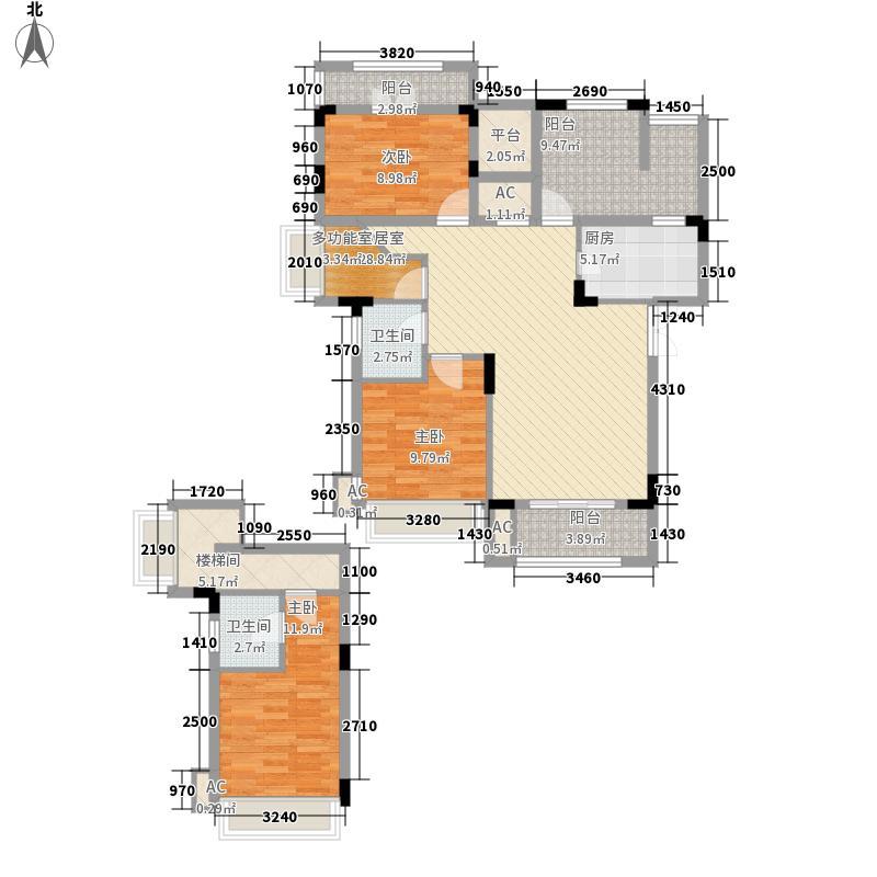 中铁・逸都国际137.00㎡C-4a户型3室2厅2卫1厨