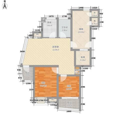 金帝城市别墅2室0厅1卫1厨102.00㎡户型图