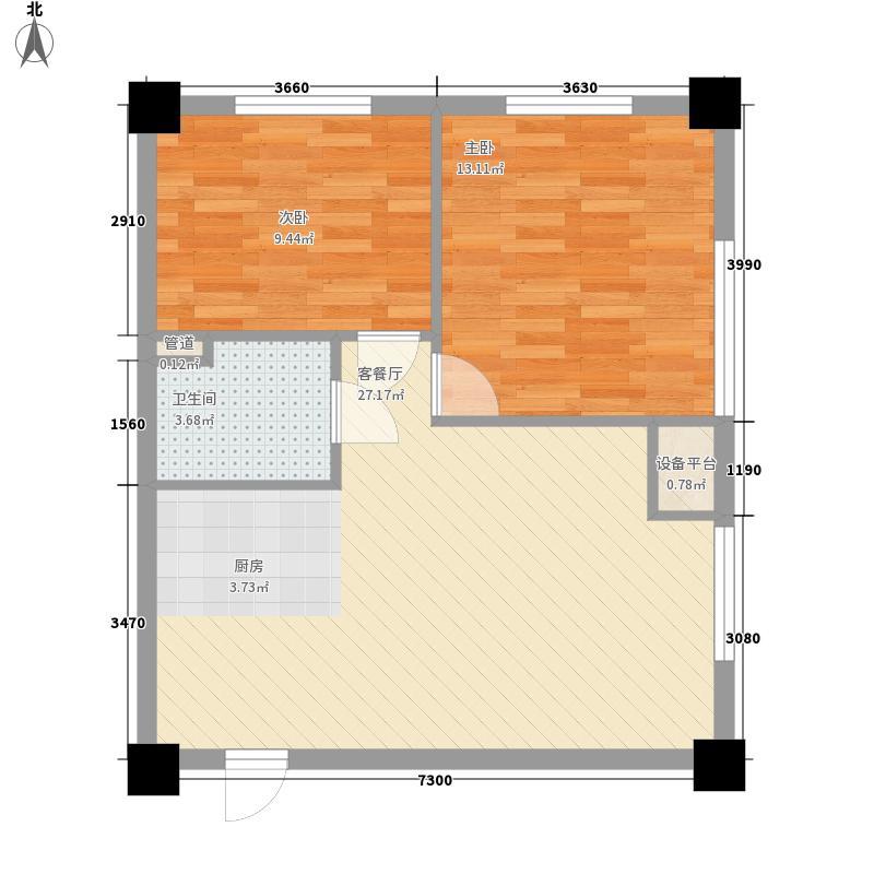 瀚都国际83.37㎡瀚都国际户型图户型E2室1厅1卫户型2室1厅1卫