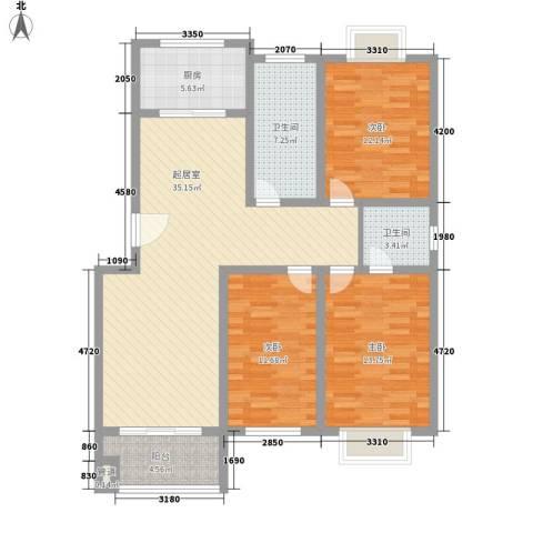 仲宫国际风情街3室0厅2卫1厨135.00㎡户型图