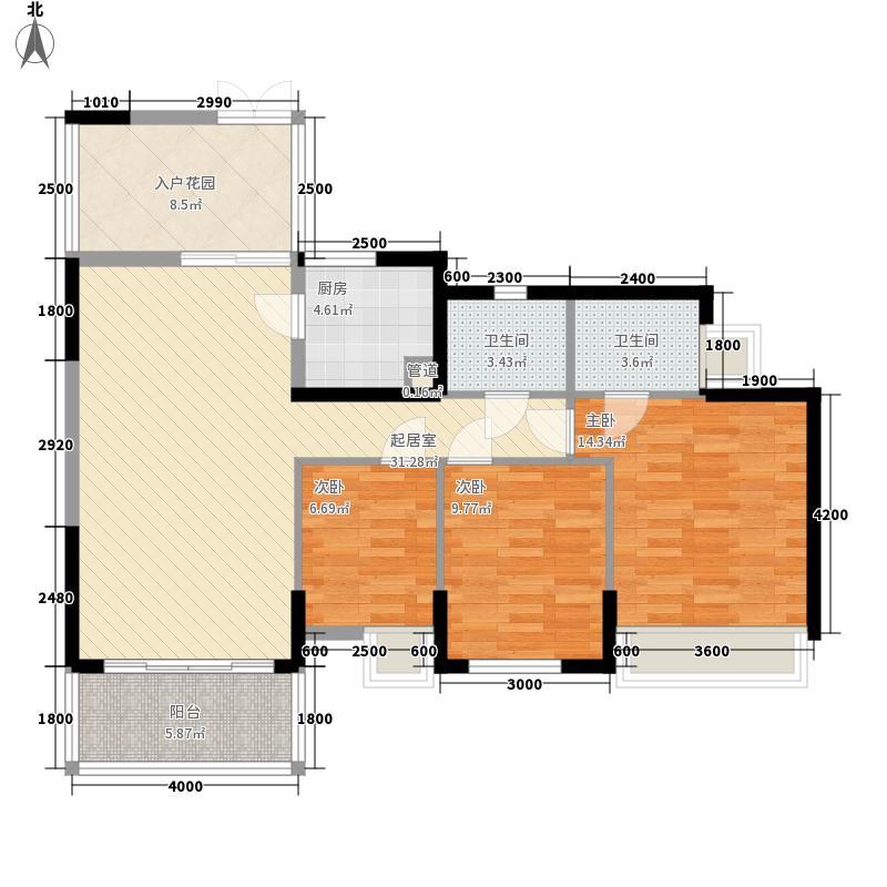 深业新岸线二期118.98㎡深业新岸线二期户型图三房3室2厅2卫户型3室2厅2卫